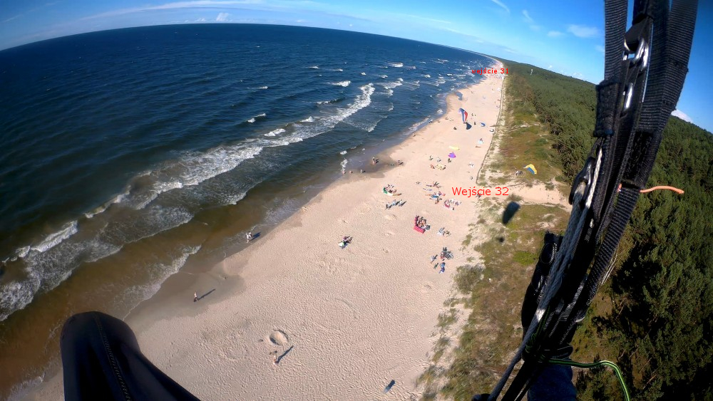 Widok z powietrza na startowisko paralotniowe w Krynicy Morskiej